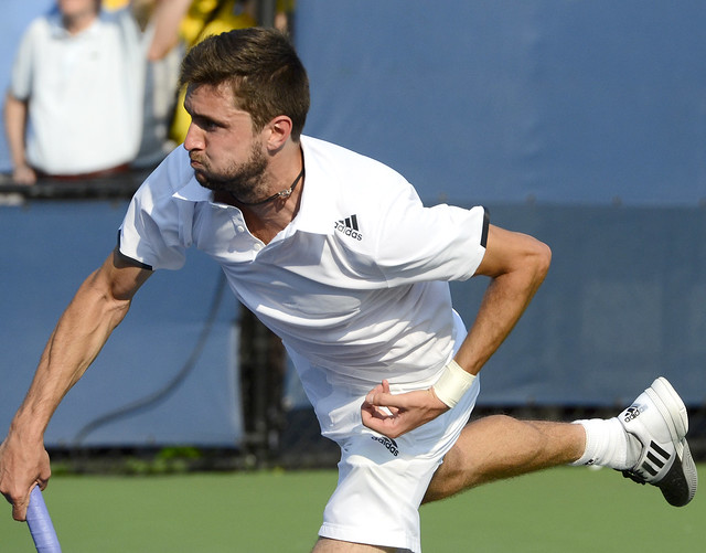 2014 US Open (Tennis)- Tournament - Gilles Simon