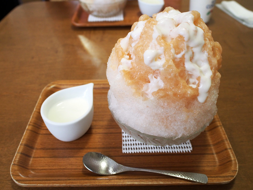 Japanese Ice Shaved | Yogurt Condensed Milk & Peach