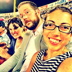 Making our own fun at the #baystars game...
