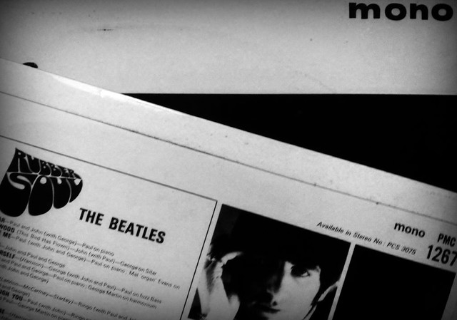 A couple of my mono LPs by The Beatles