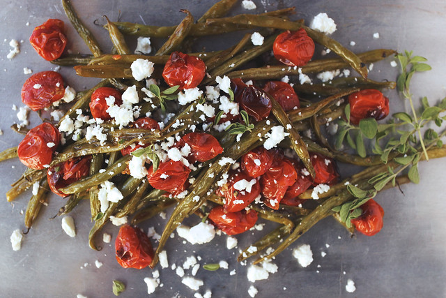 Greek-Style Roasted Green Beans and Tomatoes with Feta