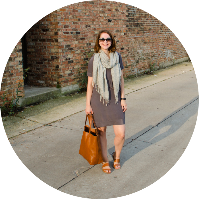 august outfit, farmer's marketing, what to wear, saturday morning outfit, scarf outfit ideas, cognac and gray, neutrals blog