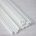White Plastic Lollipop Sticks