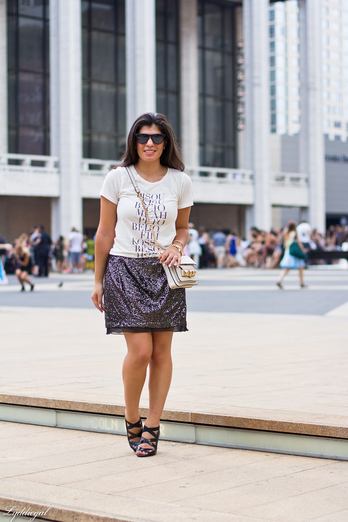 Kiss tee, sequined skirt.jpg