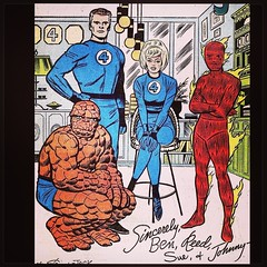 """Sincerely, Ben, Reed, Sue, and Johnny."" #FantasticFour #comics #comicbooks"
