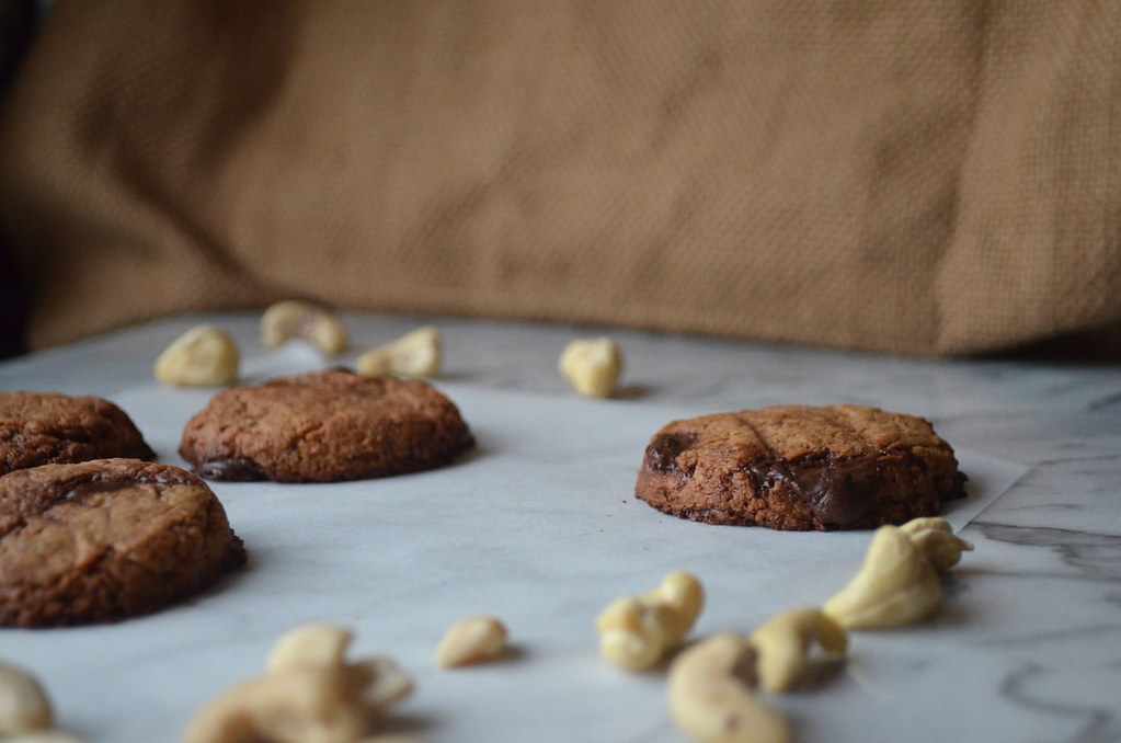 Vegan Gluten-Free Chocolate Chip Cashew Cookies
