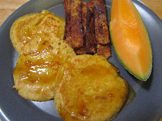 Johnnycakes; Tempeh Bacon; rockmelon