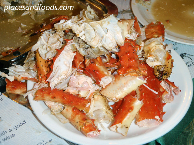 ushuaia la cantina king crab shell