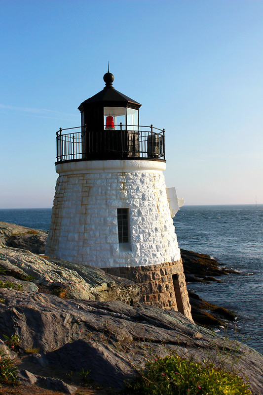 castle hill lighthouse, lighthouse, newport, newport lighthouse, nautical, seaside, ocean, scenic ocean drive, castle hill