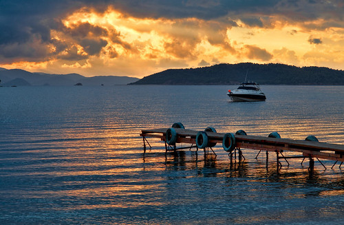 sunset cloudy greece skiathos sporades thessaliastereaellada