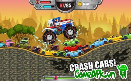 Monster Wheels: Kings of Crash v1.1 hack full tiền cho Android