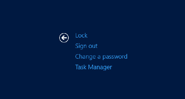 Change Password Option