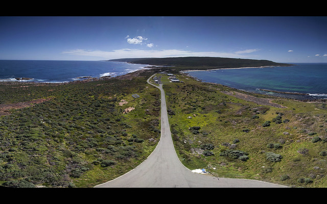 Panorama taken from the top of Cape Leeuwin Lighthouse, Southwest Australia