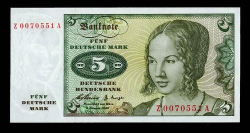 Deutsche Bank 5 mark replacement note