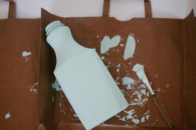 chalk finish recycled bottle