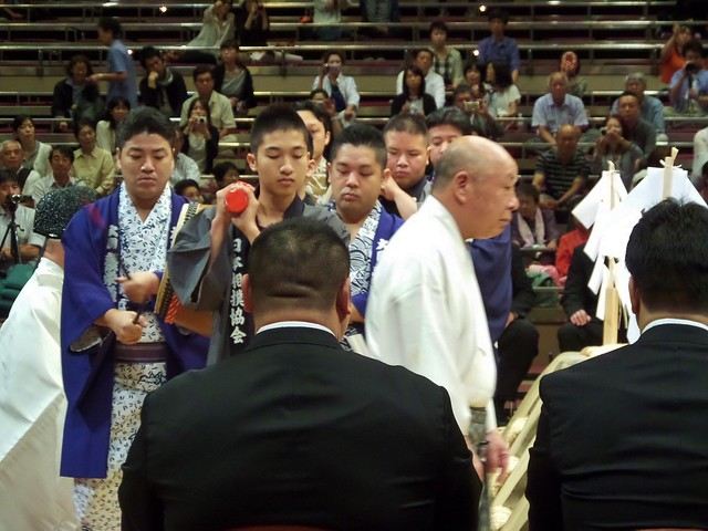 Drums in Sumo Opening Ceremony