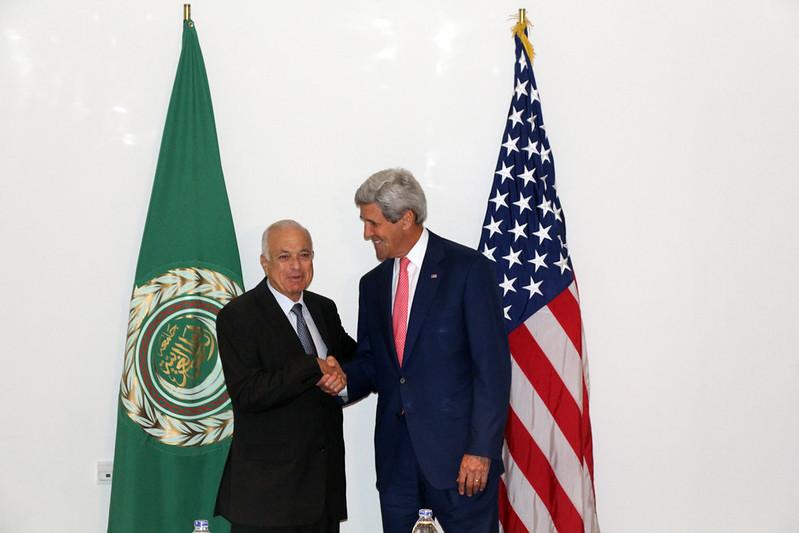 Secretary Kerry Meets With Arab League Secretary-General al-Araby