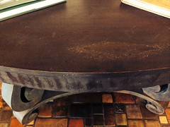 furniture, brown, wood, table,