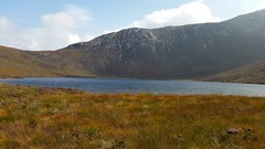 Coire Fhionn Lochan, a lake on top of a mountain.