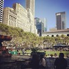 Peeps soak up the last summery sunshine in Bryant Park. #nycparks #bryant