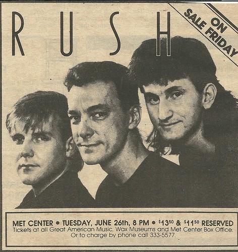 06/26/84 Rush @ Met Center, Bloomington, MN