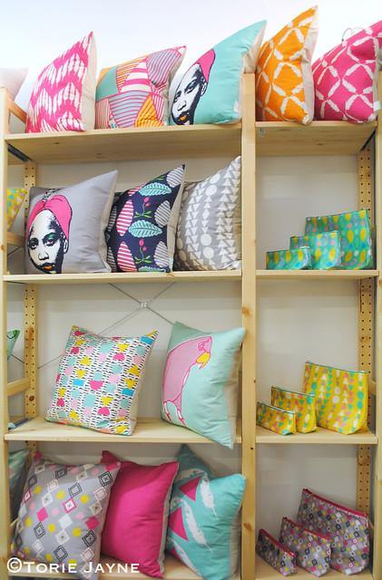 Curio & Curio cushions & zipped bags