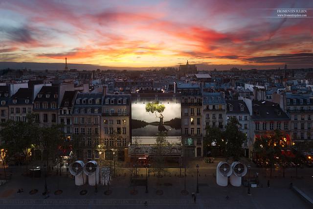 Depuis le Centre Pompidou, Paris