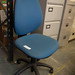 Blue swivel chair €40
