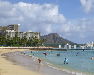 Image of Waikiki Beach. hawaii honolulu