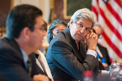 U.S. Secretary of State John Kerry chairs the Annual Meeting of the President's Interagency Task Force to Monitor and Combat Trafficking in Persons (PITF) at the White House in Washington, D.C., on October 24, 2016. [State Department photo/ Public Domain]