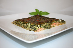 30 - Cream spinach curd quiche with smoked salmon…