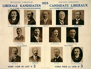 Liberale verkiezingsaffiche, 1925 | Campaign poster, Belgian Liberal Party, National elections 1925