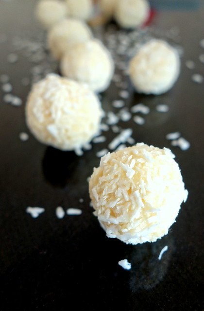 lime & coconut truffles