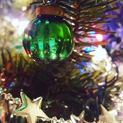 Antique glass ornaments from Brian's childhood added to our tree this year. :purple_heart: #yule #traditions #familylove