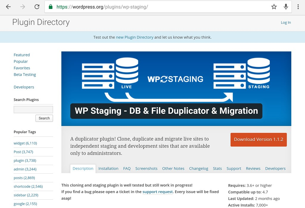 wp plugin staging