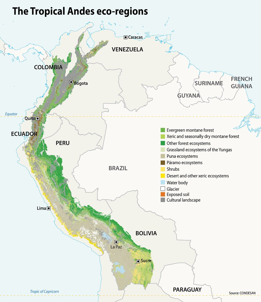 the tropical andes eco regions grid arendal
