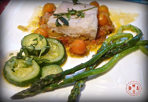Corvina Escabeche with Spring Vegetables