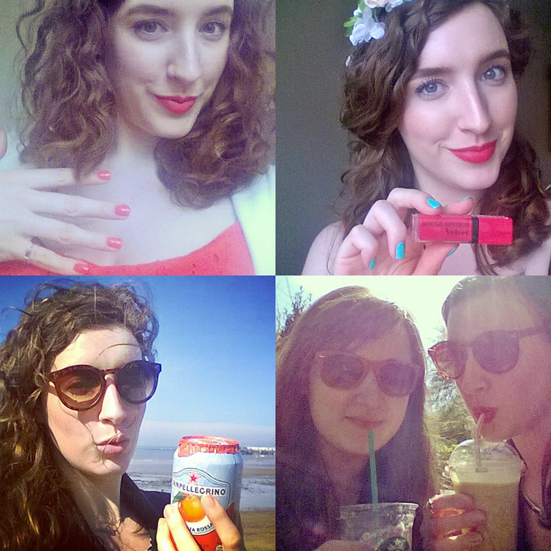 April InstaSelfies Collage