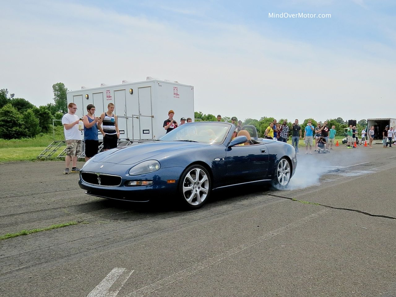 Maserati Spider Burnout