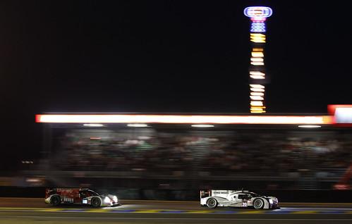 Timo Bernhard, Brendon Hartley, Mark Webber Porsche 919 Hybrid 24 Horas Le Mans 2014