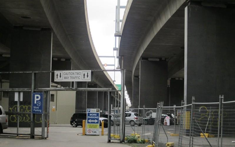 Car park below Westgate Freeway