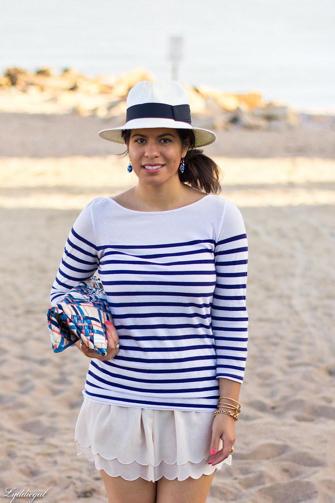 striped shirt, scalloped shorts, panama hat.jpg