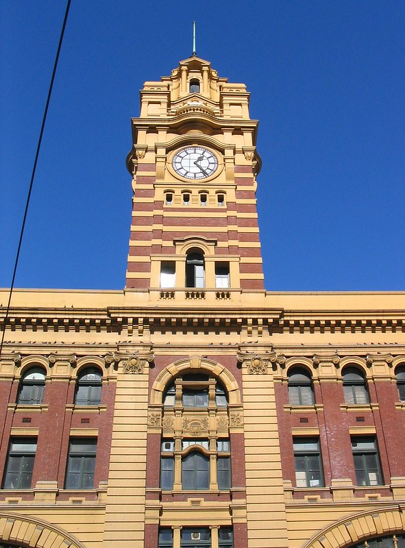 Flinders Street Station tower, August 2004