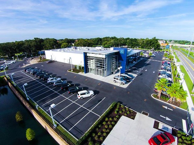 A bird 39 s eye view of fields motorcars in lakeland florida for Mercedes benz of lakeland