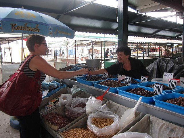 Buying Olives @ the Bazaar