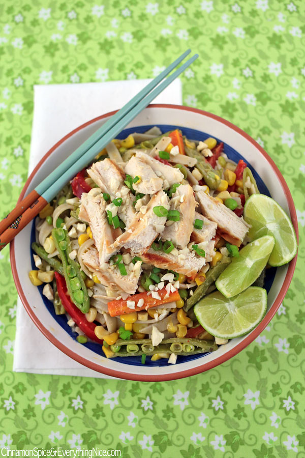 Thai Noodle Salad with Grilled Chicken | Cinnamon-Spice & Everything ...