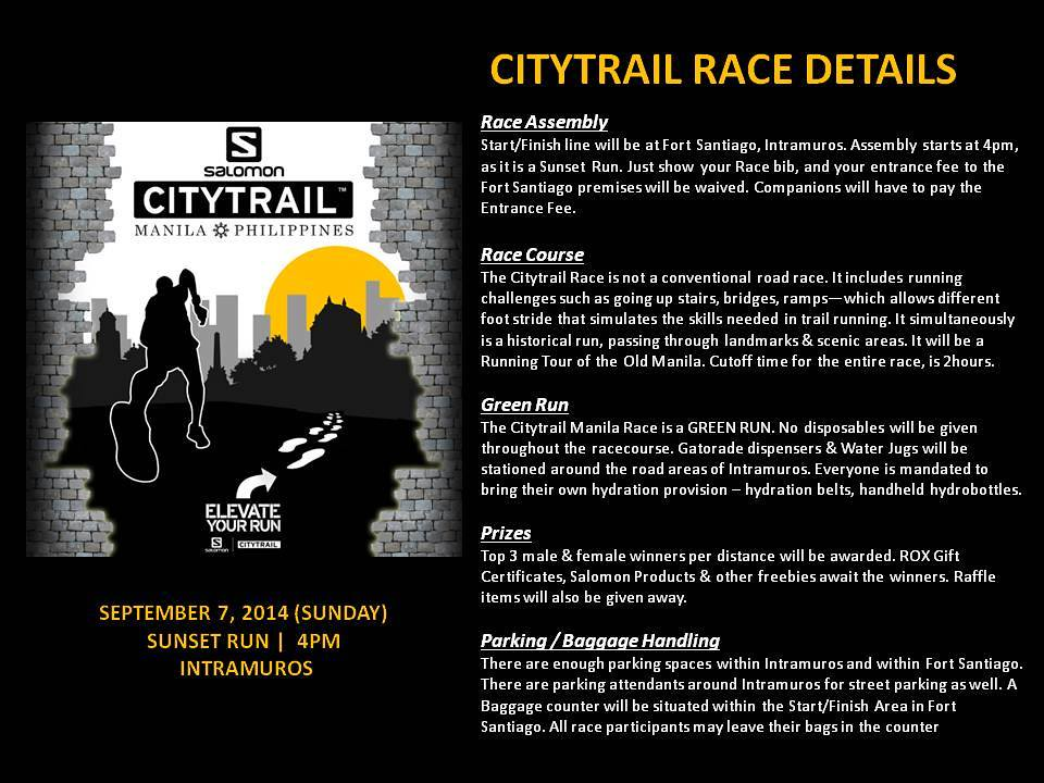 Running Event : Salomon Citytrail 2014 Philippines