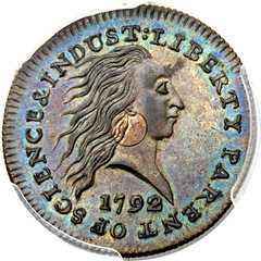 Norweb 1792 Silver Cents cent obverse