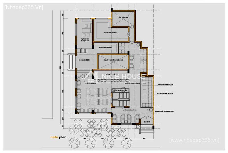 Thiết kế nội thất quán cafe NTC - Hà Nội_4