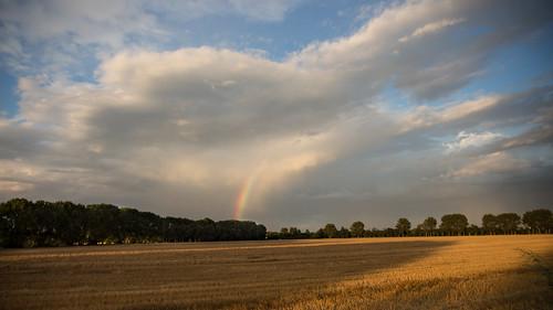 city sky sun field rain clouds canon germany geotagged deutschland eos rainbow day colours place himmel wolken explore magdeburg stadt regenbogen farben 2014 saxonyanhalt sachsenanhalt canoneos650d geo:lon=11601498 geo:lat=52072454